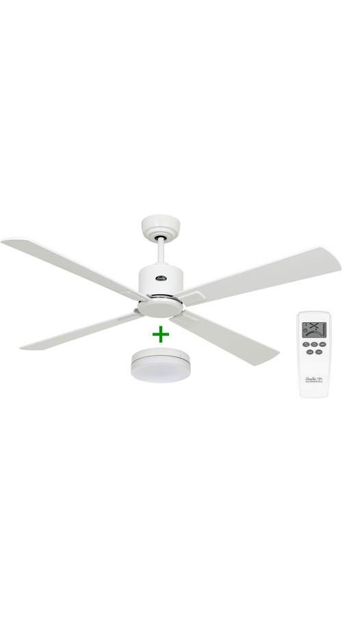 Casafan Eco Neo III 132 WE-WE/LG Light - Ανεμιστήρας Οροφής με Φωτιστικό Κιτ