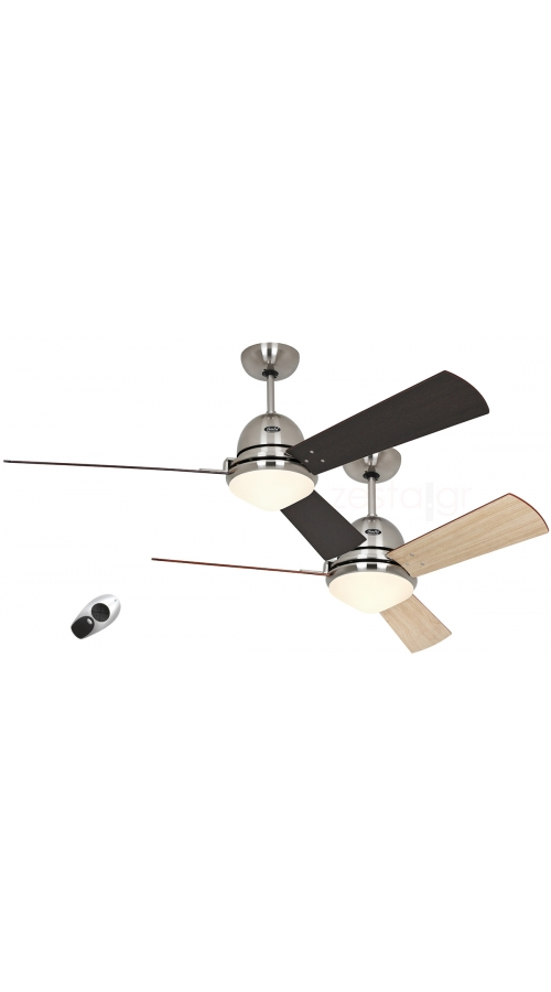 Casafan Libeccio 120/142 BN - Ανεμιστήρας Οροφής με Φωτιστικό