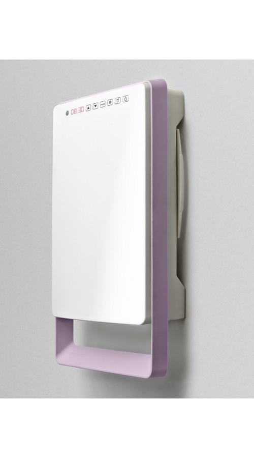Aurora Touch - Ψηφιακό Αερόθερμο Μπάνιου με μωβ πετσετοκρεμάστρα