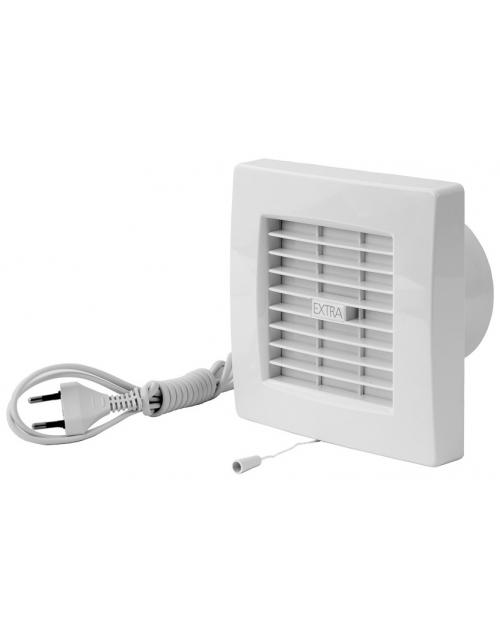Europlast X100ZWP - Εξαεριστήρας μπάνιου με αυτόματες περσίδες, καλώδιο και διακόπτη - κορδονάκι