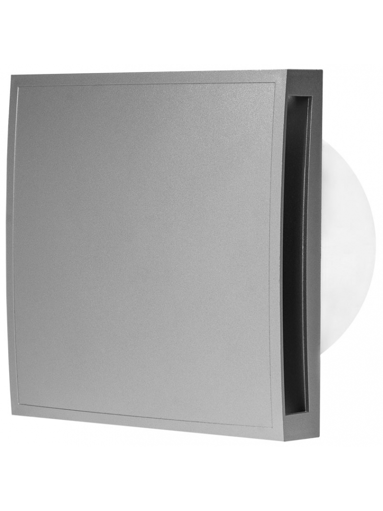 Europlast EET100S - Εξαεριστήρας μπάνιου με κάλυμμα, Ασημί