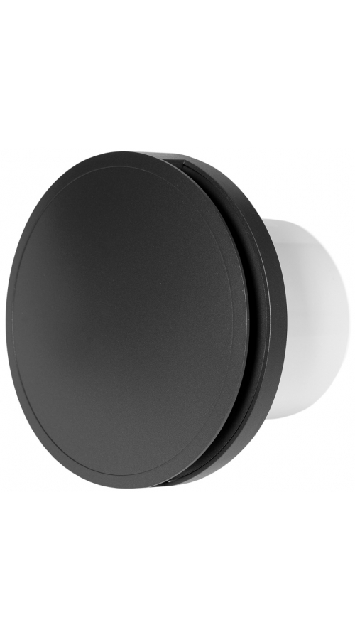 Europlast EAT100A - Εξαεριστήρας μπάνιου στρογγυλός με κάλυμμα, Ανθρακί