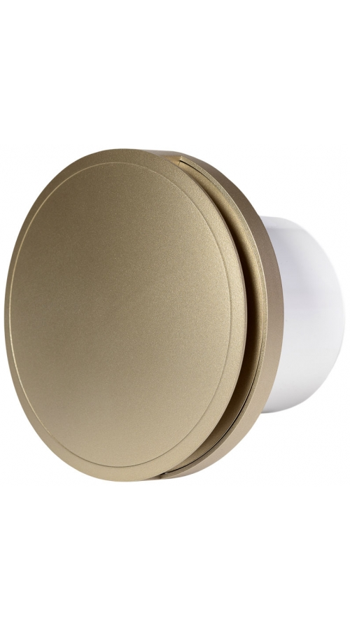 Europlast EAT100G - Εξαεριστήρας μπάνιου στρογγυλός με κάλυμμα, Χρυσαφί