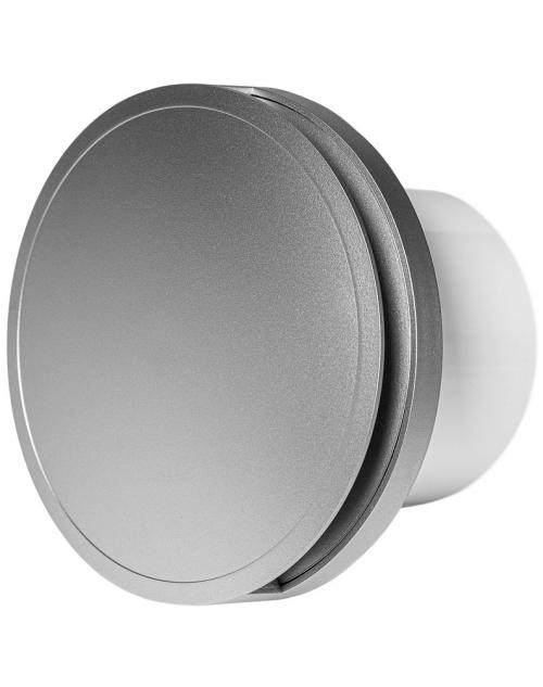 Europlast EAT100S - Εξαεριστήρας μπάνιου στρογγυλός με κάλυμμα, Ασημί