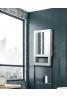 Radialight Quadro Visio - Ψηφιακό Αερόθερμο Μπάνιου με Πρόσοψη Καθρέπτη