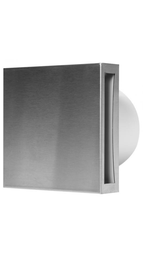 Europlast EET100HTi - Εξαεριστήρας μπάνιου με Ανοξείδωτο (Inox) κάλυμμα, υγροστάτη & χρονοδιακόπτη