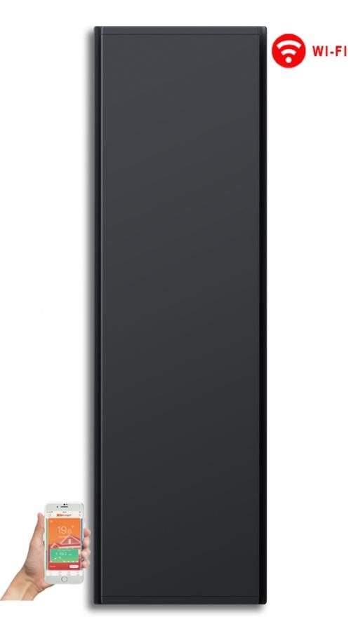 Radialight Icon WiFi 1500 Watt Ανθρακί - Κάθετο Ψηφιακό Σώμα Θέρμανσης