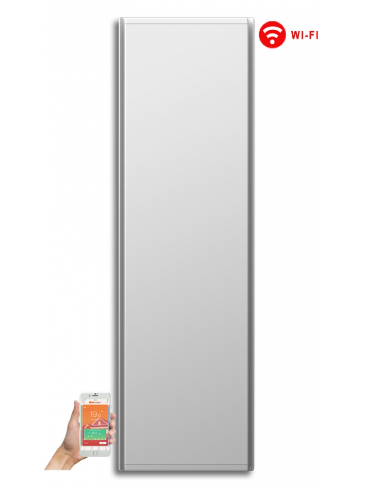 Radialight Icon WiFi 1500 Watt Λευκό - Κάθετο Ψηφιακό Σώμα Θέρμανσης