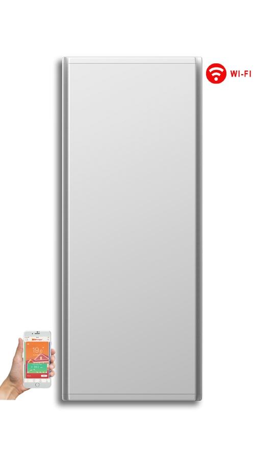 Radialight Icon WiFi 1000 Watt Λευκό - Κάθετο Ψηφιακό Σώμα Θέρμανσης