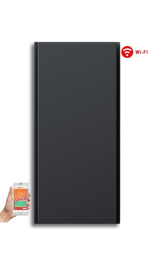 Radialight Icon WiFi 750 Watt Ανθρακί - Κάθετο Ψηφιακό Σώμα Θέρμανσης