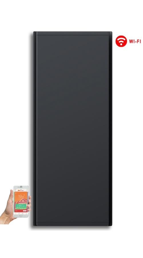 Radialight Icon WiFi 1000 Watt Ανθρακί - Κάθετο Ψηφιακό Σώμα Θέρμανσης