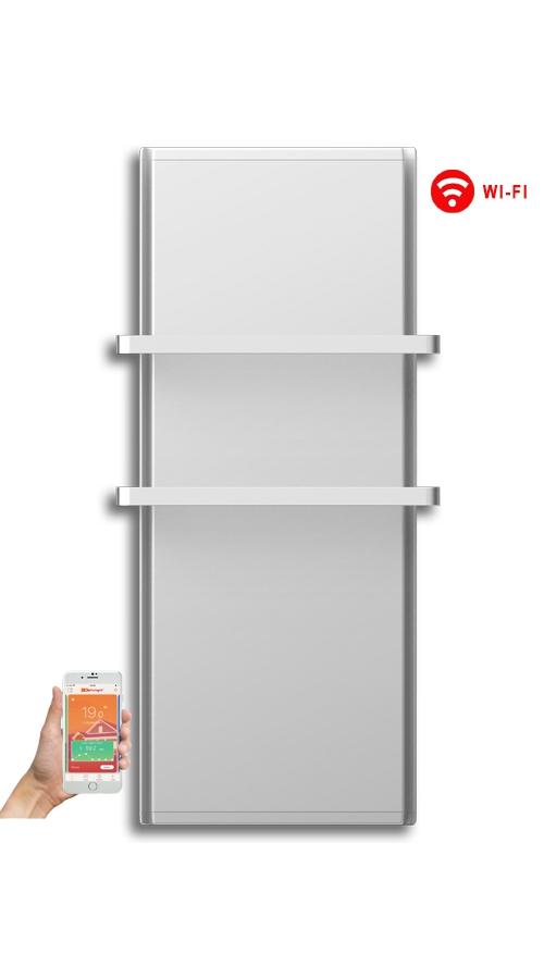 Radialight Icon 2B WiFi 750 Watt Λευκή - Ψηφιακή Πετσετοκρεμάστρα Μπάνιου