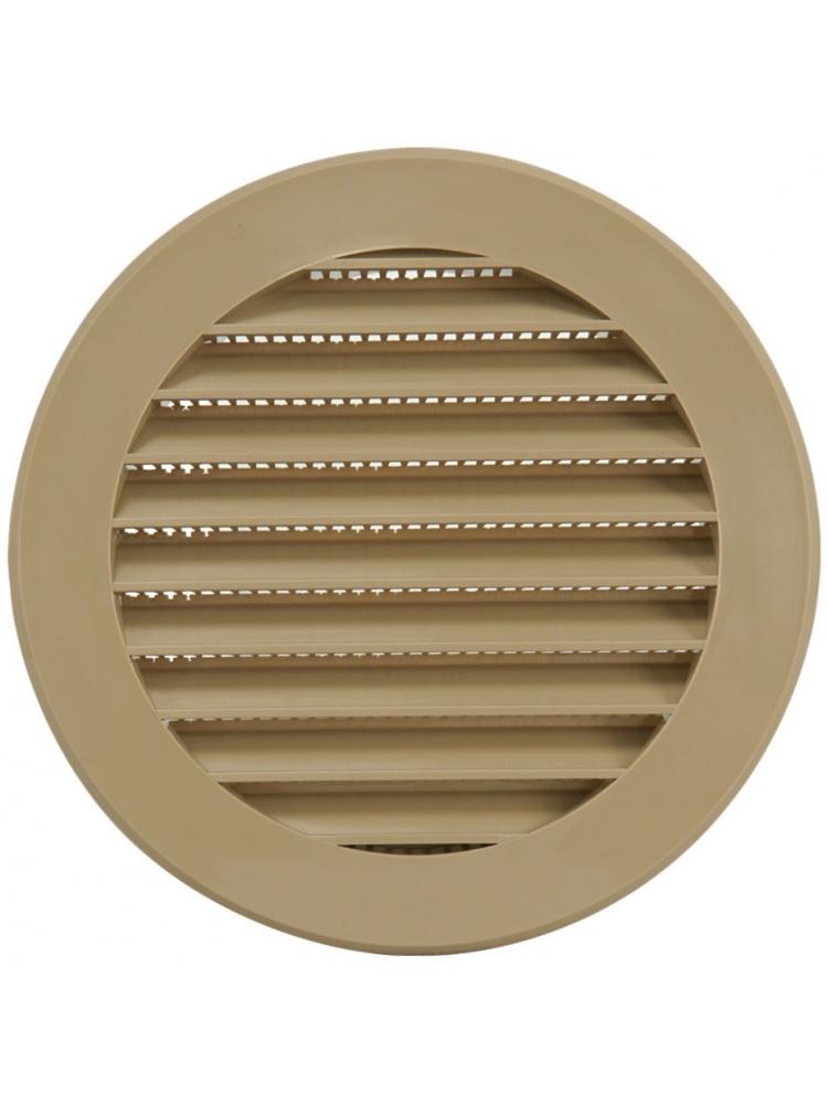 Europlast VR100Y - Περσίδα Εξαερισμού Πλαστική Μπεζ με Πλέγμα Προστασίας
