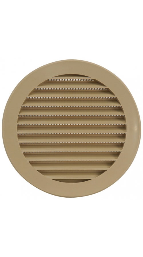 Europlast VR125Y - Περσίδα Εξαερισμού Πλαστική Μπεζ με Πλέγμα Προστασίας