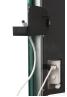 Radialight Deva Μαύρη - Ψηφιακή Πετσετοκρεμάστρα Μπάνιου με Γυάλινη Πρόσοψη
